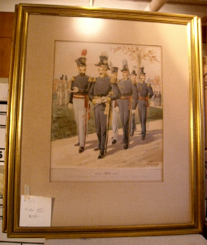 Image for Uniform of the United States Army 1774-1889.:Plate XVI. 1832-35. Maj. Gen., Staff & Line Officers, Cadets (1821- 35).