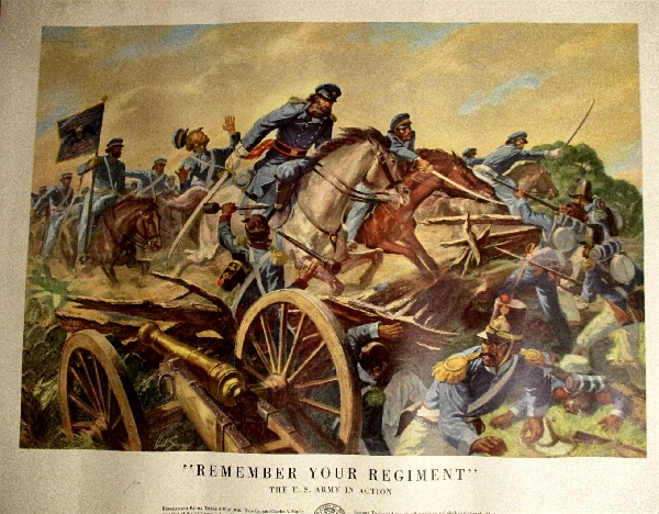 "Image for ""Remember Your Regiment!"" US Army in Action. #21-40."