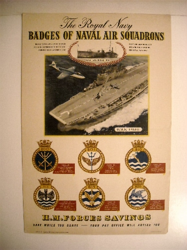 Image for Royal Navy: Badges of the Naval Air Squadrons. 800, 801, 810, 813, 815, 820. (Recruiting Poster)