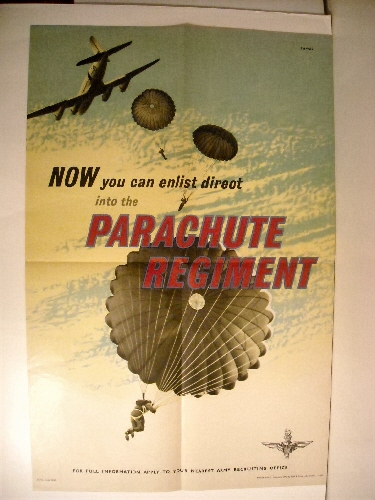 Image for Now You Can Enlist Direct into the Parachute Regiment. (Recruiting Poster)