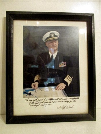 Image for Admiral Arleigh Burke. FRAMED COLOR PHOTO.
