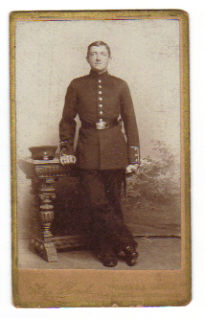 Image for Cabinet Photo of German Soldier. by Alois Sikorski taken in Posen: c. 1870-80.