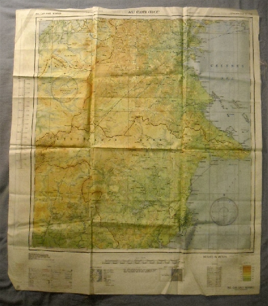 Image for East Borneo C-45 & West Borneo  C-46. AAF Cloth Chart.  Philippine Series.