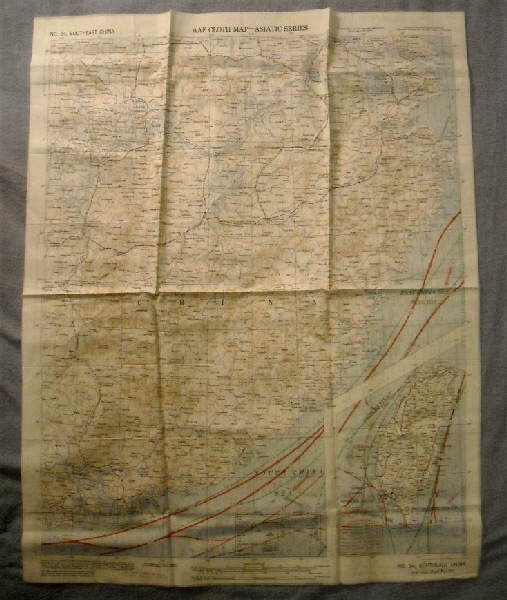 Image for Southeast China No 34 & Northeast China No 35. AAF Cloth Chart.  Asiatic Series.