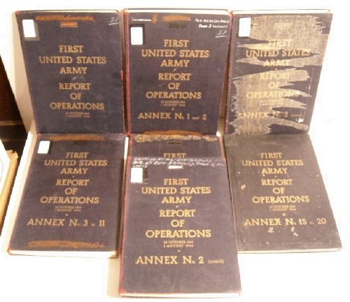 Image for First United States Army Report of Operations. 20 October 1943-1 August 1944. Secret. (Complete set)