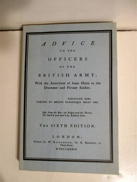 Image for Advice to the Officers of the British Army, With the Addition of Some Hints to the Drummer and Private Soldier.