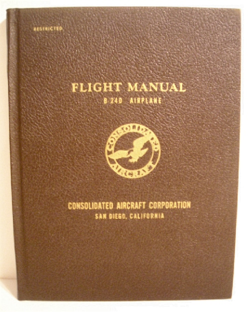 Image for Flight Manual B-24D Airplane. Restricted.