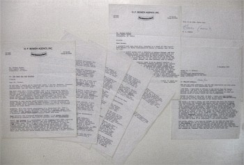 "Image for Two Original TYPED and SIGNED letters from Tom Clancy in Reference to  Writing of ""The Hunt for Red October."""